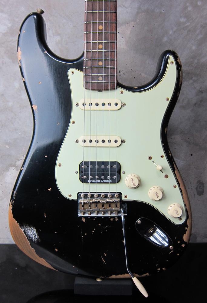 画像1: Fender Custom Shop 1962 Stratocaster Heavy Relic SSH / Black