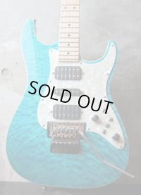 Tom Anderson Drop Top Classic / Bora Bora to Trans Blue Burst /  Binding