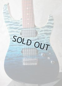 Tom Anderson Drop Top 7-String Arctic Blue Surf with Binding