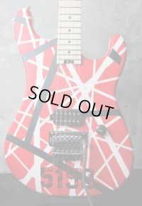 EVH Striped Series 5150 Red, Black and White Stripes