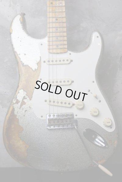 画像1: Fender Custom Shop '56 Stratocaster Heavy Relic  / Silver Sparkle