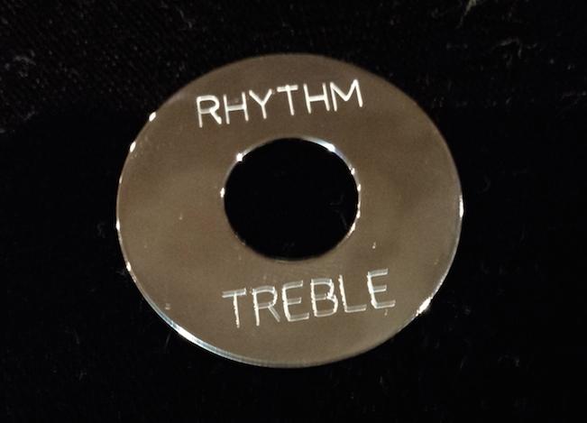 """画像1: """"Chrome"""" Toggle Plate for Les Paul  / John Sykes"""