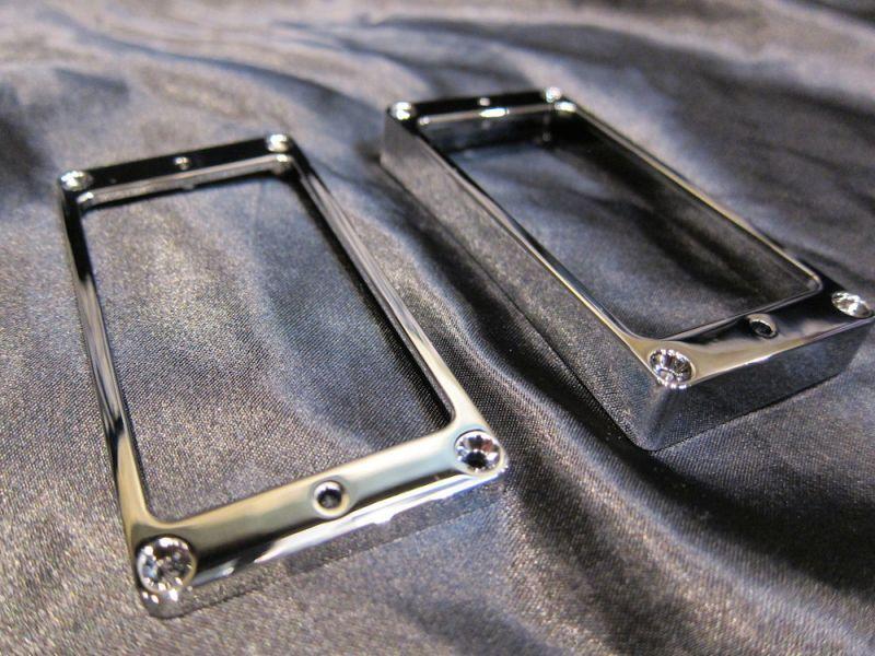 画像2: Gibson Les Paul Custom Pickup Mounting Ring Escutcheon (Round type)/ HARD / Chrome Set