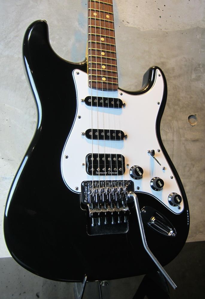 画像1: Davis Custom Guitars Vintage Stratocaster Black FRT