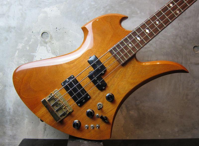 画像2: B.C. Rich USA 1984 Mockingbird Bass / All Mahogany