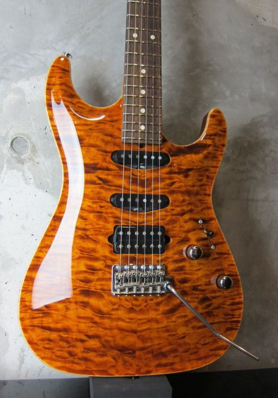 画像1: Suhr Modern Carve Top Standard / Root Beer Stain
