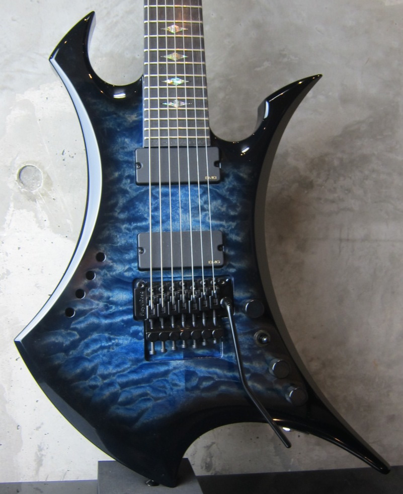 画像1: B.C.Rich USA Ignitor 7 String Custom / Blue Burst