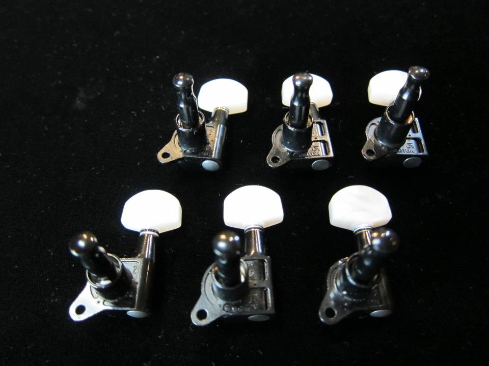 画像2: GOTOH SG503 mini Tuning Machines BLK /  Perloid Button / Jake E Lee / NOS