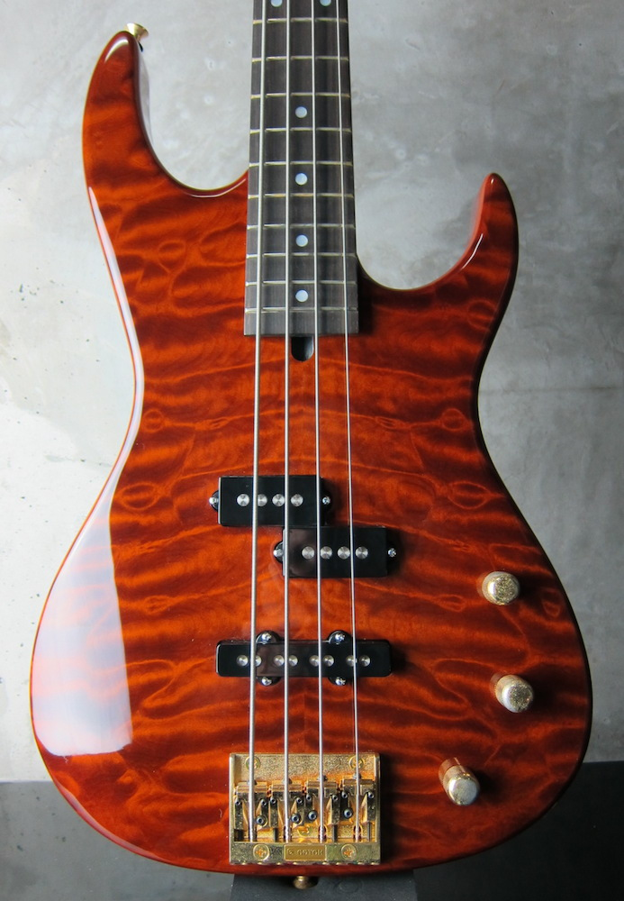 画像1: Valley Arts Custom Pro USA Bass / Brown Quilt TOP