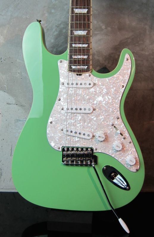 画像1: Hamiltone Stratocaster Set Neck Model Surf Green