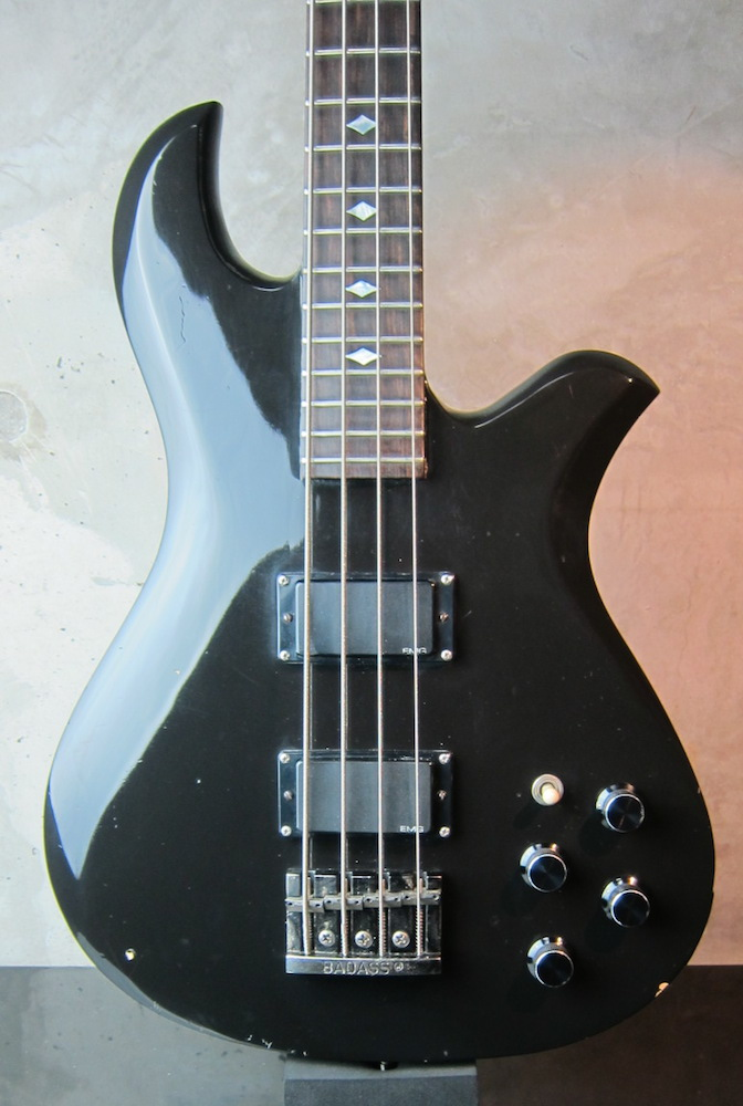 画像1: B.C. Rich USA Eagle Bass 80'S EMG Black