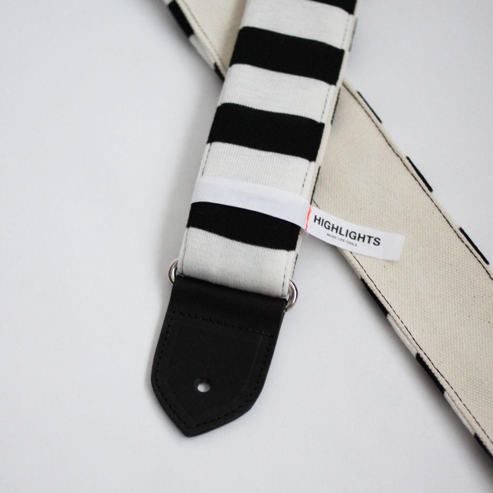 画像4: Highlights MLT Black Border Lines / White Canvas Back / Black Leather