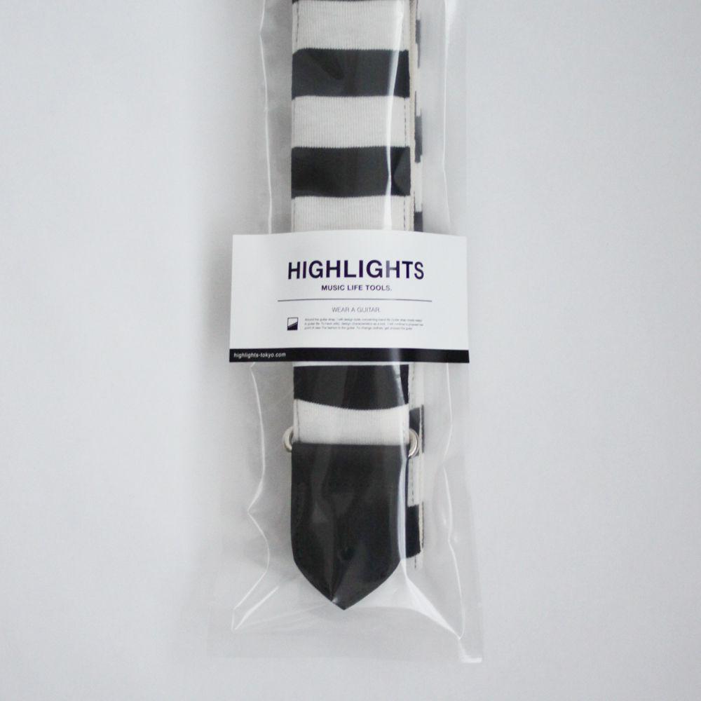 画像3: Highlights MLT Black Border Lines / White Canvas Back / Black Leather