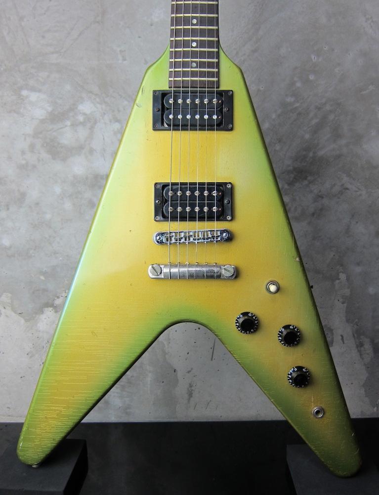 画像1: Gibson USA Flying V 1984 Green Burst