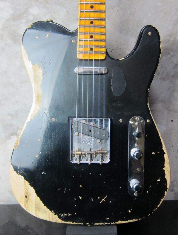 画像1: Fender Custom Shop 1952 Telecaster Heavy Relic / Black
