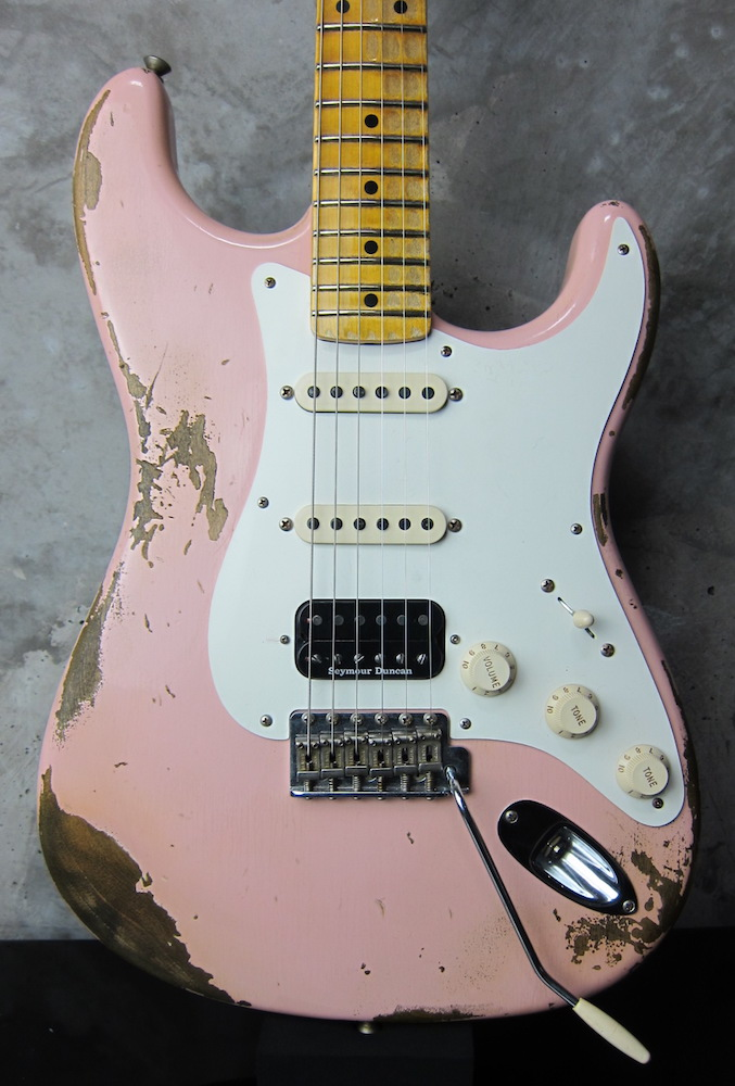 画像1: Fender Custom Shop 1957 Stratocaster SSH Relic Shell Pink