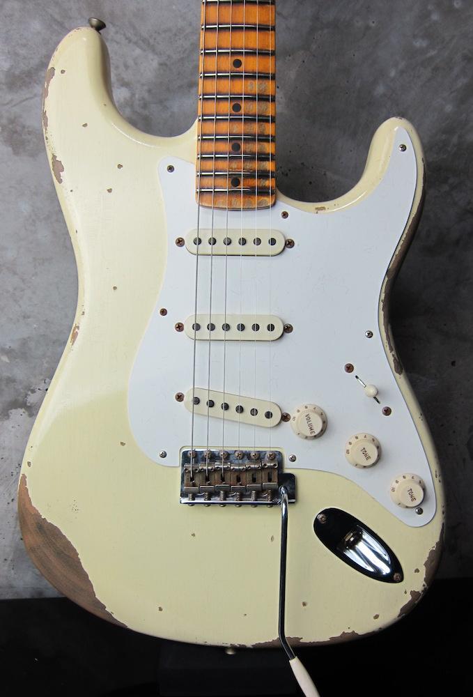 画像1: Fender Custom Shop 1957 Stratocaster Relic Olympic White  :I