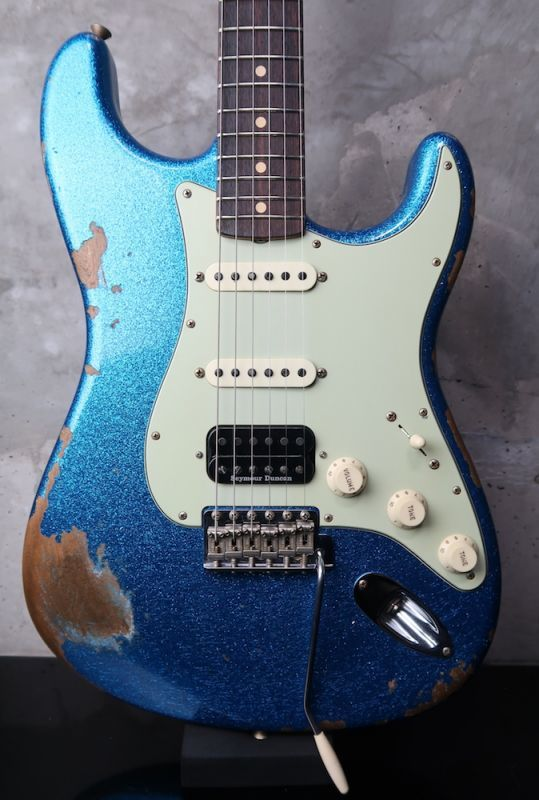 画像1: Fender Custom Shop 1962 Stratocaster SSH Blue Sparkle Heavy Relic