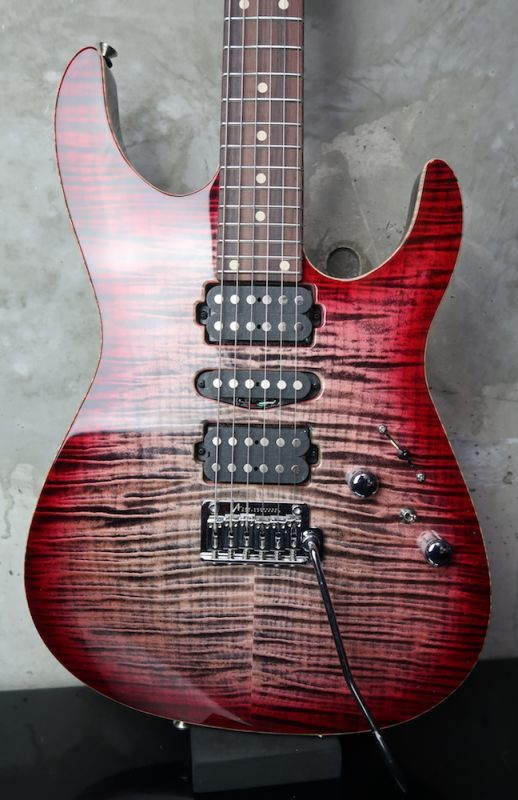画像1: Tom Anderson Angel Natural Black to T-Red Burst with Binding