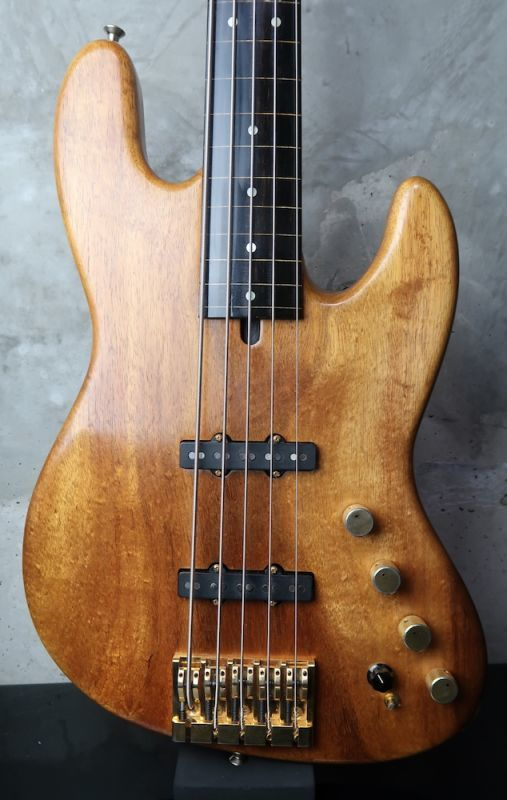 画像1: Pensa Koa 5 Strings Fretless Bass Natural
