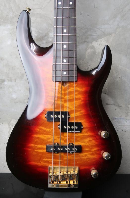 画像1: Valley Arts Custom Pro USA Bass Sunburst / Arched Top