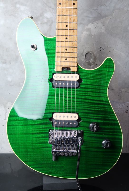 画像1: Peavey USA EVH Wolfgang Standard Flame Maple / Trans Green