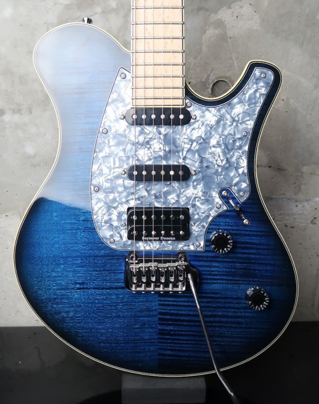 画像1: Mayones Legend V22 Flame Maple / Trans Blue