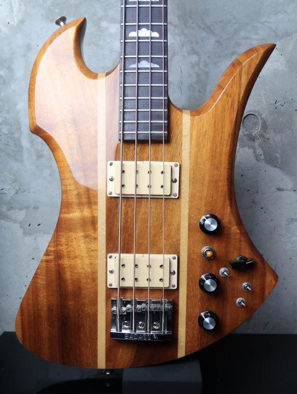 "画像1: B.C. Rich Mockingbird Bass Koa '77 / Red Pin ""512,000円⇨⇨⇨⇨498,000円"""