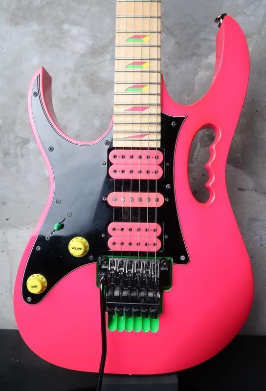 画像1: 新春期間限定大特価☆ Ibanez JEM777 Lefty 30th Anniversary Steve Vai Signature Limited Edition / Shocking Pink