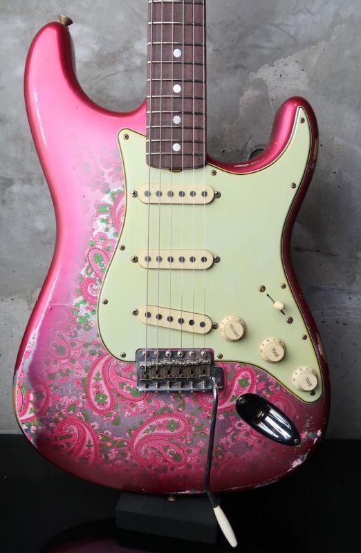 画像1: Fender Custom Shop 1968 Stratocaster Relic Masterbuilt by Greg Fessler / Pink Paisely