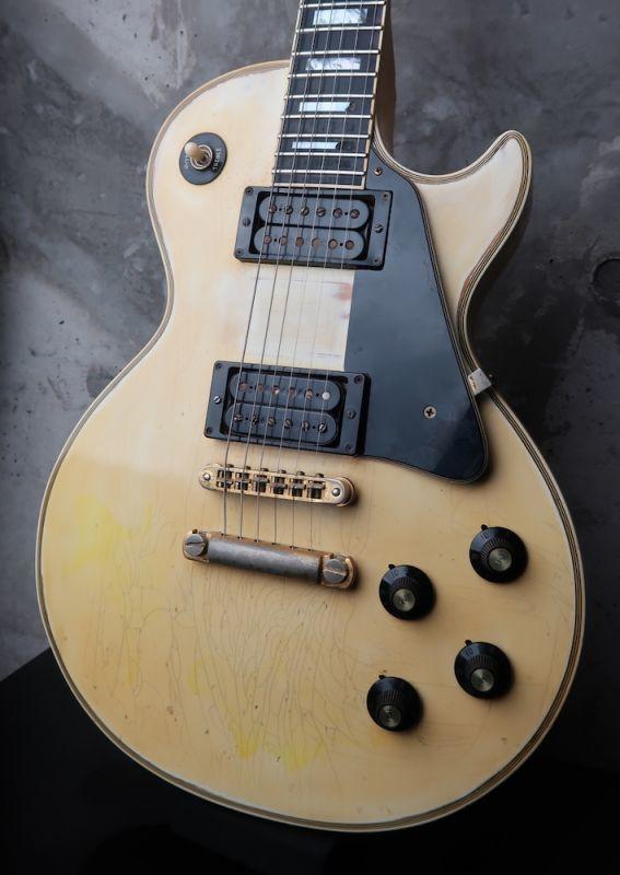 画像1: Gibson USA Les Paul Custom1974  Ivory / White