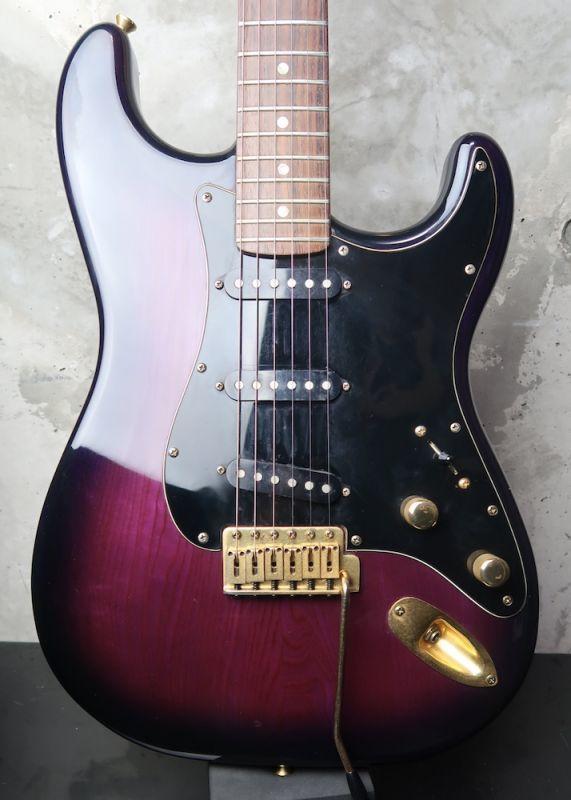 画像1: ESP 800 Series Stratocaster Model / Trans Purple Burst