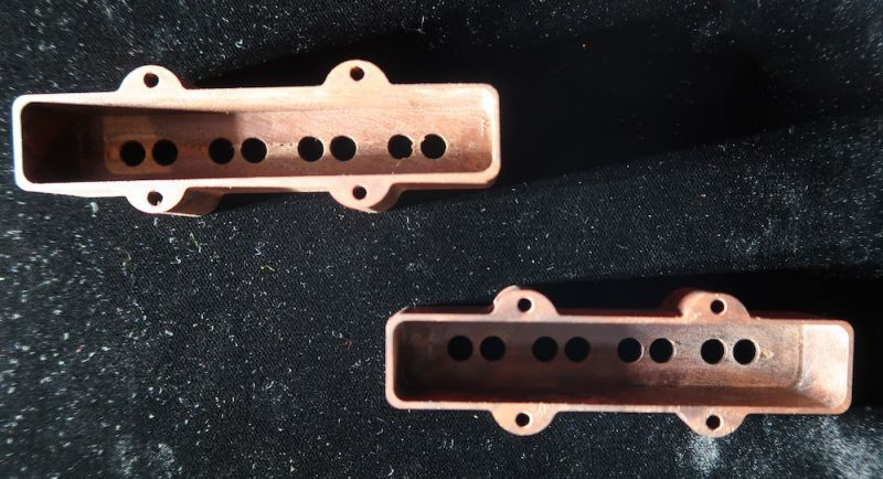 画像3:  Sago New Material Guitars / LX Bass JB Pickup Cover Set / Walnut