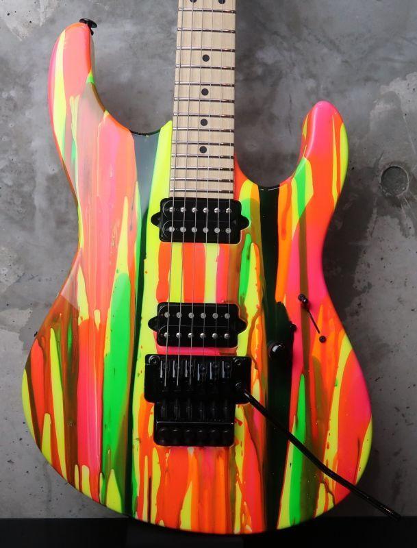 画像1: Suhr Modern 80s Shred Neon / Drip Limited