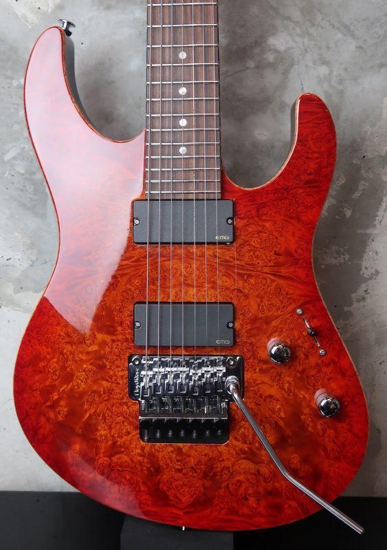 画像1: Suhr Custom shop Modern FRT 7 Strings  / Burt Maple Top /  FireBurst