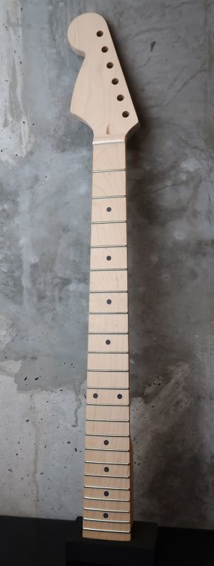 画像1: Warmoth Stratocaster Neck 22 Fretted Maple / Left Hand / Large Head