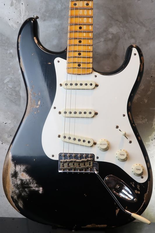 画像1: Fender  USA Custom Shop 1957 Heavy Relic Stratocaster - RARE!!!  Aged Blackie Finish!!!