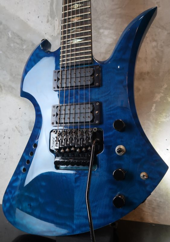 画像1: B.C.Rich Mockingbird Quilt Maple Top 7string  /  Trance Blue