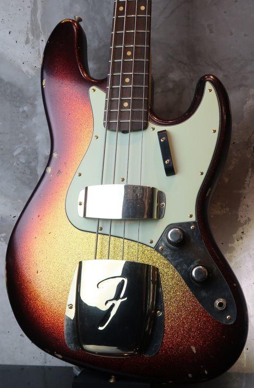画像1: Fender Custom Shop '60s Jazz Bass Light Relic /  Sunburst Sparkle Finish / Matching Head