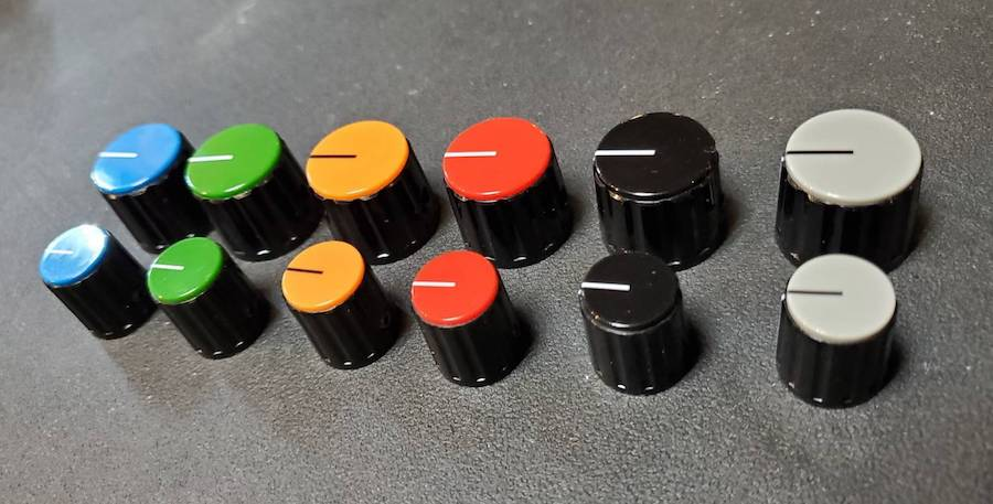画像1: Real Vintage Knob  / Glay / Blazk / Red / D-Yellow / Green / Blue