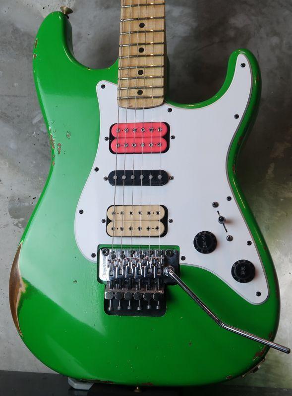 画像1: 新春大特価☆  Charvel Custom Shop Green Meanie / Steve Vai / Heavy Relic