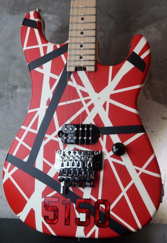 画像1: 緊急入荷!!!   EVH Striped Series 5150 Red, / Black /  White Stripes (2)