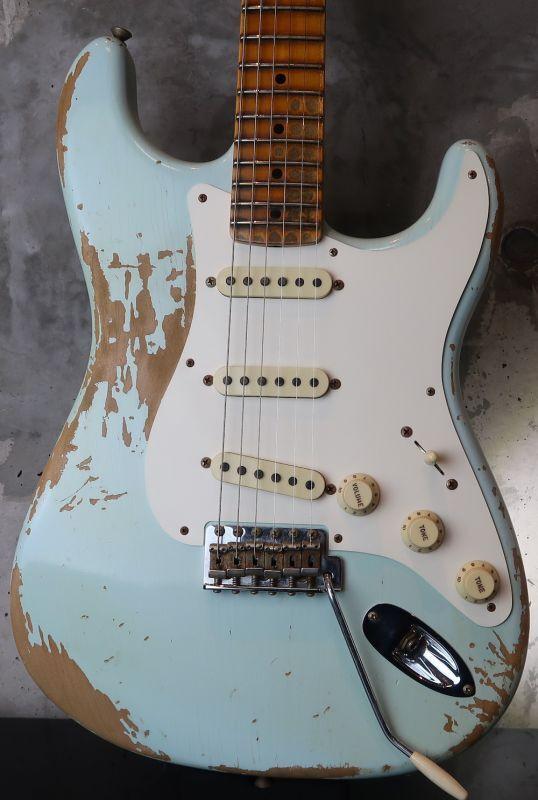画像1: Fender USA Custom Shop 1957 Stratocaster Relic / Sonic Blue