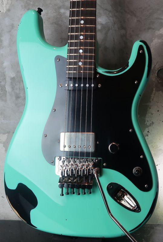 画像1: RS Guitarworks Contour Hot Rod S-H / Foam Green Over Black