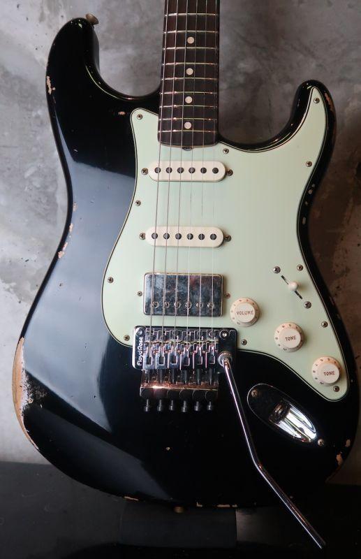 画像1: Fender Custom Shop '62  Stratocaster S-S-H  Aged Black / Heavy Relic / FRT