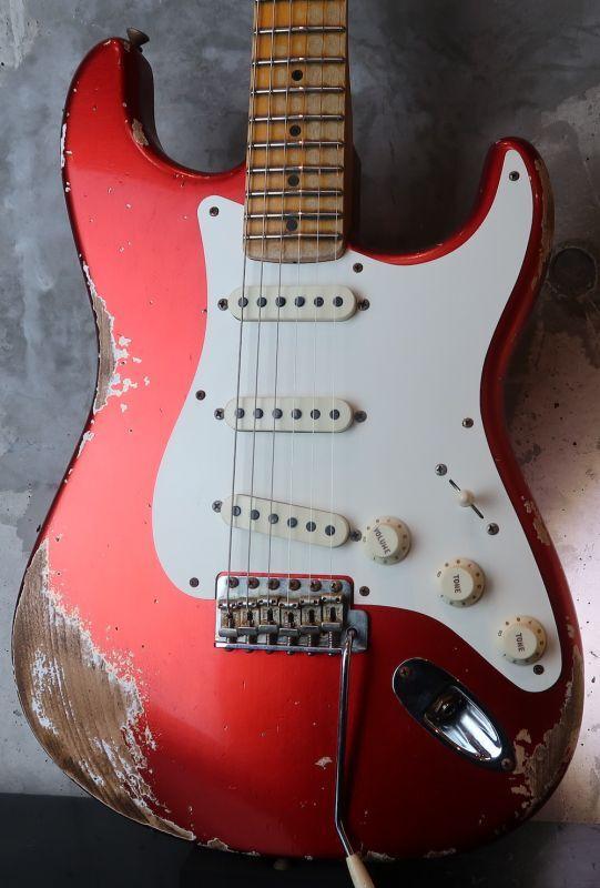 画像1: Fender Custom Shop  '57  Stratcaster Heavy Relic / Candy Apple RED