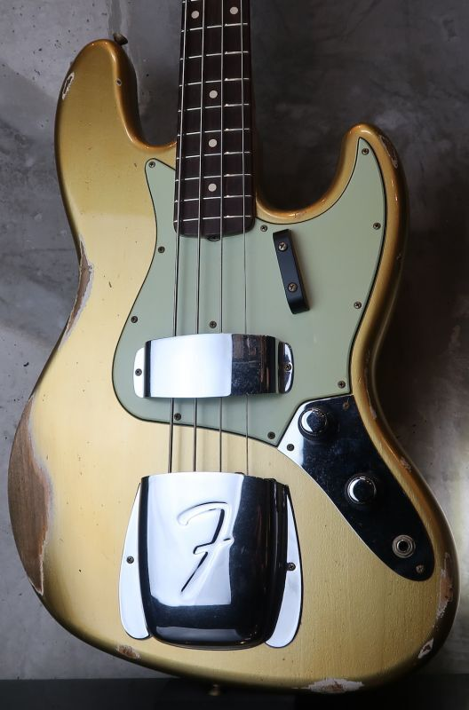 画像1: Fender Custom Shop '60s Jazz Bass Relic / Aztec Gold